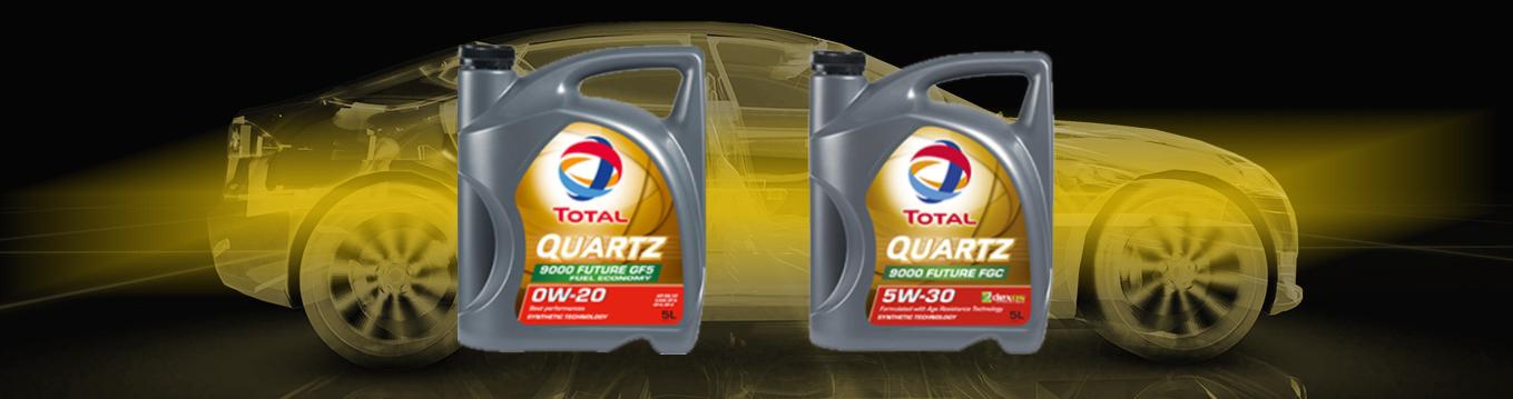 TOTAL,empresa líder en el desarrollo de lubricantes de alta tecnología, presenta sus nuevos productosTOTAL QUARTZ 9000 FUTURE FGC 5W-30yTOTAL QUARTZ 9000 FUTURE GF-5 0W-20